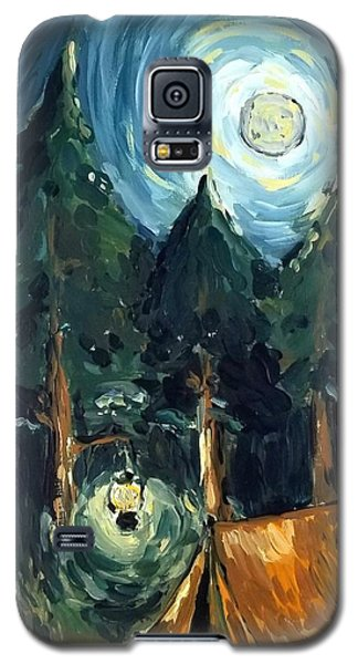Camp At Night Galaxy S5 Case