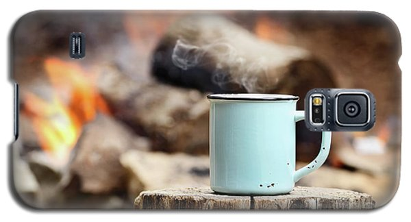 Galaxy S5 Case featuring the photograph Campfire Coffee by Stephanie Frey