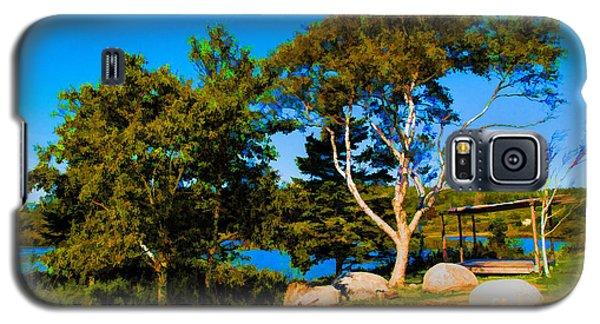 Campfire Lake Galaxy S5 Case by Rick Bragan