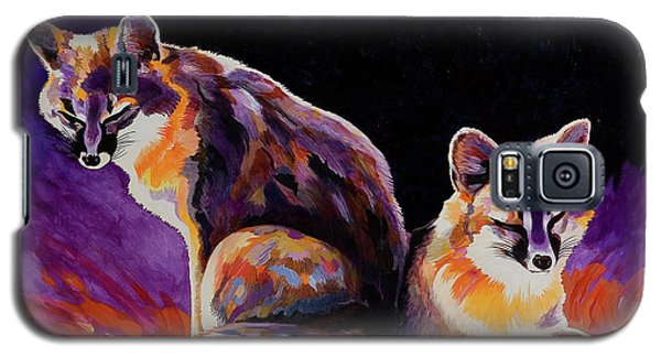 Galaxy S5 Case featuring the painting Campfire Surveillance Team by Bob Coonts