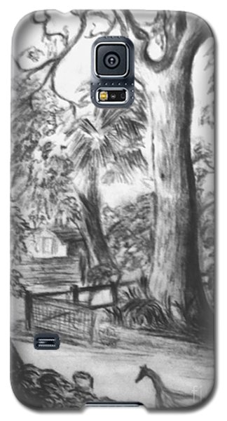 Galaxy S5 Case featuring the drawing Camping Fun by Leanne Seymour