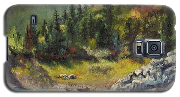 Camping On The Lake Shore Galaxy S5 Case