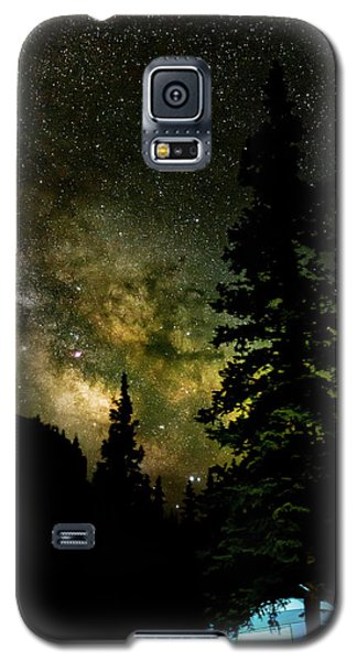Camping Under The Milky Way Galaxy S5 Case
