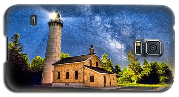 Cana Island Lighthouse Milky Way In Door County Wisconsin Galaxy S5 Case