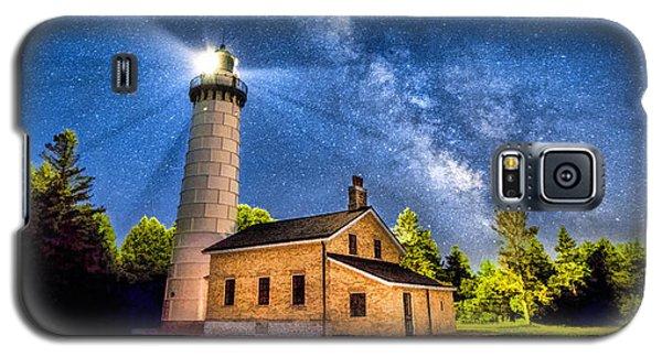 Cana Island Lighthouse Milky Way In Door County Wisconsin Galaxy S5 Case