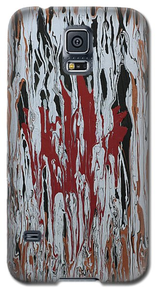 Galaxy S5 Case featuring the painting Canada Cries by Cathy Beharriell