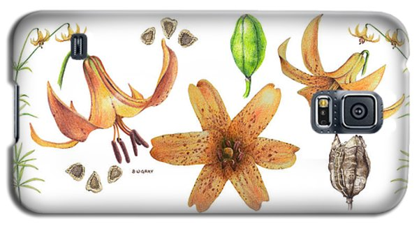 Canada Lily Collage Galaxy S5 Case
