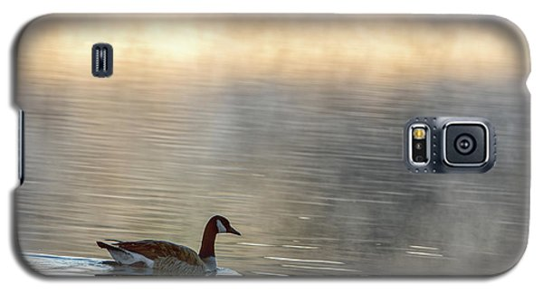 Canadian Goose In Misty Lake Galaxy S5 Case