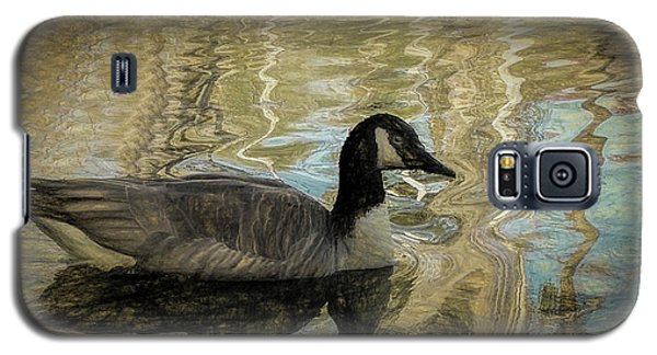 Galaxy S5 Case featuring the painting Canadian Goose by Steven Richardson