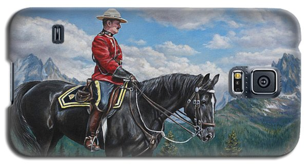 Galaxy S5 Case featuring the painting Canadian Majesty by Kim Lockman