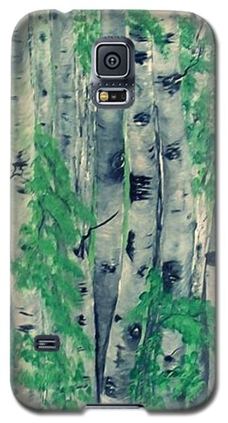 Galaxy S5 Case featuring the painting Canadian White  Poplar by Sharon Duguay