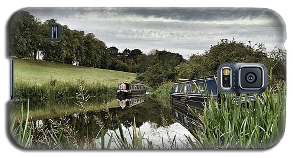 Galaxy S5 Case featuring the photograph Canal Boats by RKAB Works