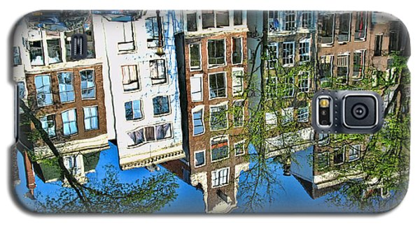 Galaxy S5 Case featuring the photograph Amsterdam Canal Reflection  by Allen Beatty