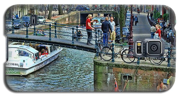 Galaxy S5 Case featuring the photograph Amsterdam Canal Scene 1 by Allen Beatty