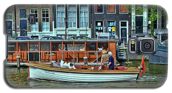 Galaxy S5 Case featuring the photograph Amsterdam Canal Scene 10 by Allen Beatty