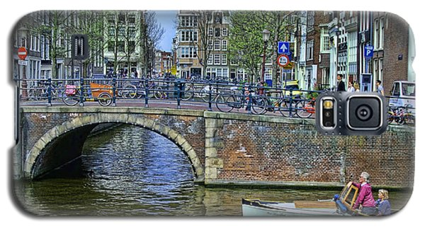 Galaxy S5 Case featuring the photograph Amsterdam Canal Scene 3 by Allen Beatty