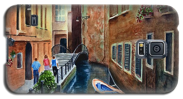 Galaxy S5 Case featuring the painting Canal St. by Karen Fleschler