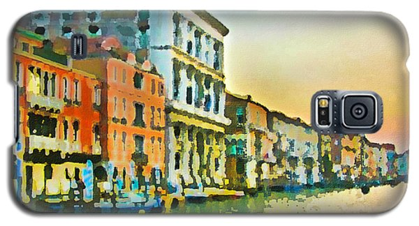 Galaxy S5 Case featuring the photograph Canal Sunset - Venice by Tom Cameron