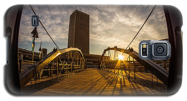 Galaxy S5 Case featuring the photograph Canalside Dawn No 7 by Chris Bordeleau
