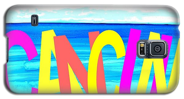 Cancun Poster T-shirt Galaxy S5 Case by Dick Sauer