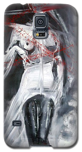 Galaxy S5 Case featuring the painting Candle In The Wind by Jarmo Korhonen aka Jarko