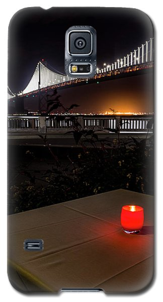 Galaxy S5 Case featuring the photograph Candle Lit Table Under The Bridge by Darcy Michaelchuk