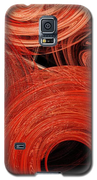 Galaxy S5 Case featuring the digital art Candy Chaos 2 Abstract by Andee Design