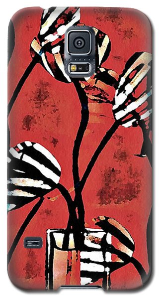 Candy Stripe Tulips 2 Galaxy S5 Case