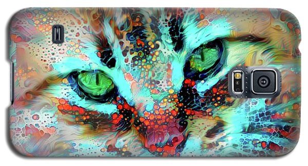 Candy The Colorful Green Eyed Cat Galaxy S5 Case