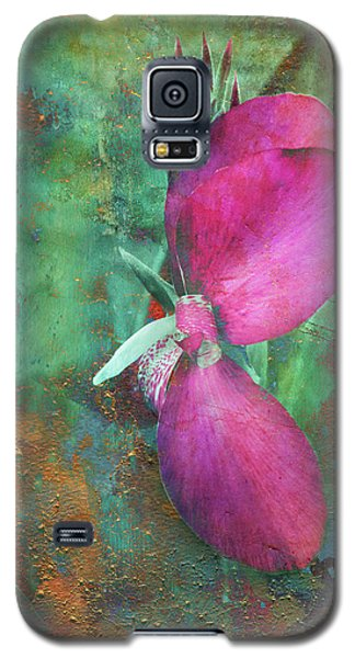 Galaxy S5 Case featuring the digital art Canna Grunge by Greg Sharpe