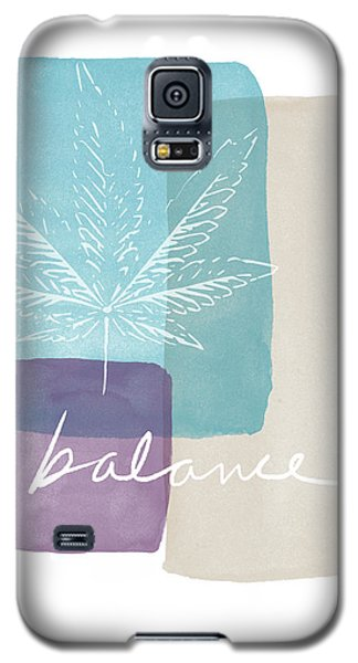 Cannabis Leaf Watercolor 3- Art By Linda Woods Galaxy S5 Case by Linda Woods