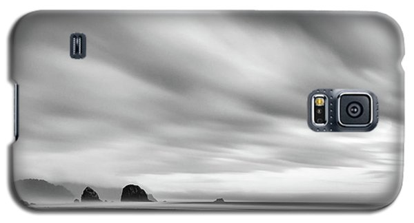Cannon Beach Long Exposure Sunrise In Black And White Galaxy S5 Case