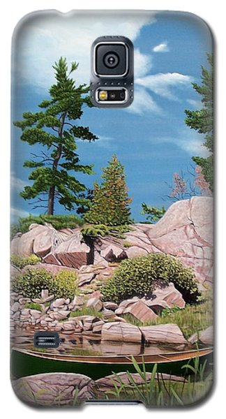 Canoe Among The Rocks Galaxy S5 Case