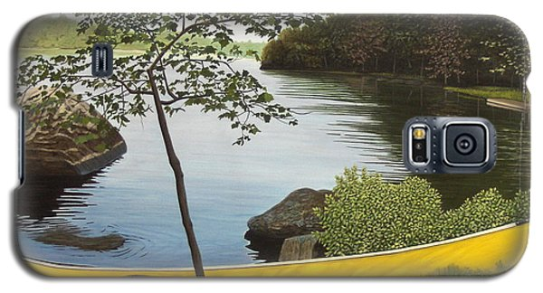 Canoe On The Bay Galaxy S5 Case