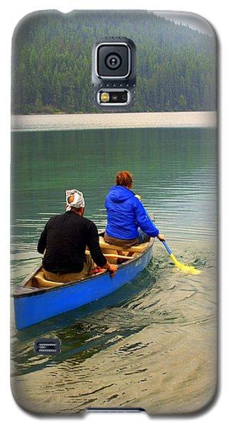 Canoeing Glacier Park Galaxy S5 Case