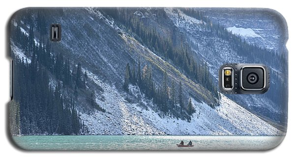 Canoeing On Lake Louise Galaxy S5 Case