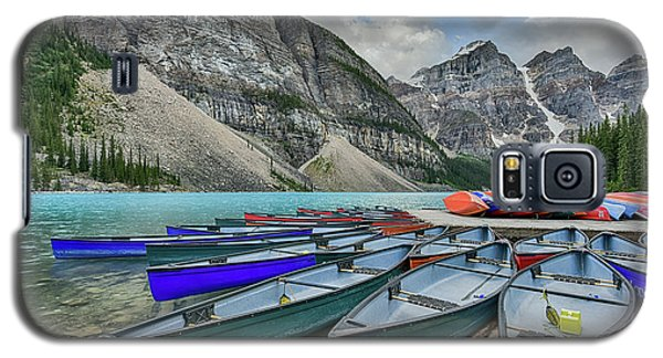 Canoes On Moraine Lake  Galaxy S5 Case