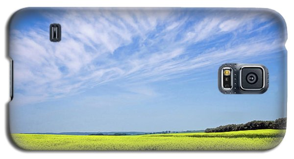 Galaxy S5 Case featuring the photograph Canola Blue by Keith Armstrong