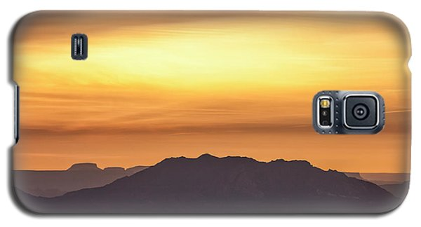 Canyon Layers With Fiery Sunrise Galaxy S5 Case