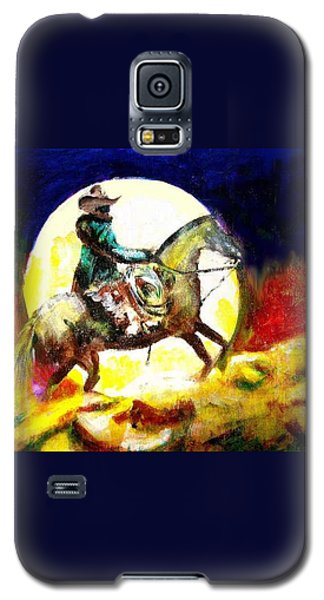Galaxy S5 Case featuring the painting Canyon Moon by Seth Weaver