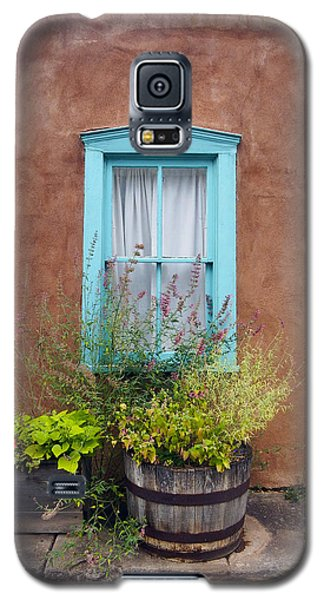 Galaxy S5 Case featuring the photograph Canyon Road Blue Santa Fe by Kurt Van Wagner