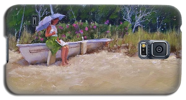 Galaxy S5 Case featuring the painting Cape Cod Weekend by Laura Lee Zanghetti