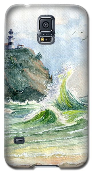 Galaxy S5 Case featuring the painting Cape Disappointment Lighthouse by Marilyn Smith