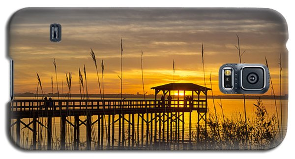 Cape Fear Sunset Fort Fisher Galaxy S5 Case by Phil Mancuso