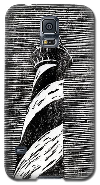 Galaxy S5 Case featuring the painting Cape Hatteras Lighthouse II by Ryan Fox