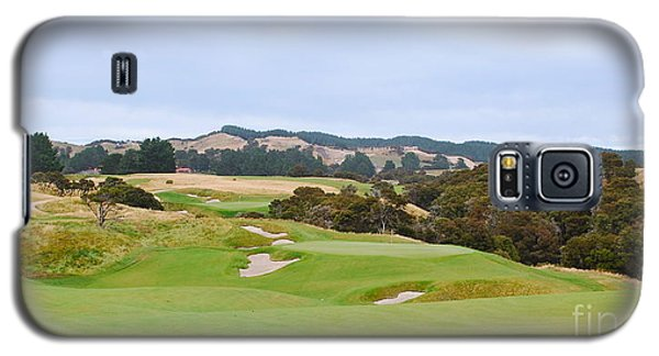 Cape Kidnappers  1 Golf Course New Zealand  Galaxy S5 Case by Jan Daniels
