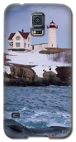 Cape Neddick Light At Dusk, York, Maine 21073 Galaxy S5 Case