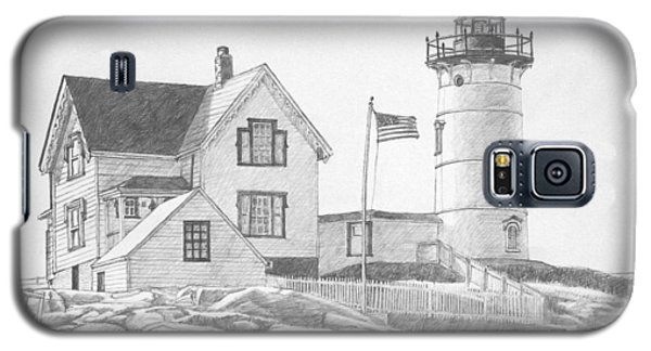 Cape Neddick Light House Drawing Galaxy S5 Case