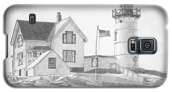 Cape Neddick Light House Drawing Galaxy S5 Case