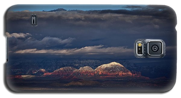 Capitol Butte In Sedona With Snow Galaxy S5 Case